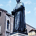 Statue Of Paolo Sarpi, Venetian Scientist by Sheila Terry