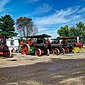 Steam Engines Lined Up by Mark Dodd