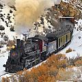 Steam Scene In The Snow by Dan Pope