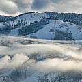 Steamboat Ski Area In Clouds by Don Schwartz