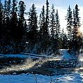 Steaming River In Winter by U Schade