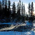 Steaming River In Winter by U Schade