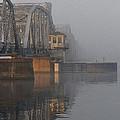 Steel Bridge In Fog - Vertical by Tim Nyberg