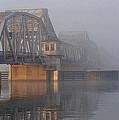 Steel Bridge In Morning Fog by Tim Nyberg