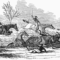 Steeplechase, 1845 by Granger