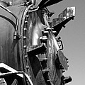 Steme Engine Front Black And White by Darleen Stry