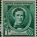 Stephen Collins Foster Postage Stamp by James Hill