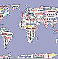 Steve Jobs Apple World Map Digital Art by Georgeta  Blanaru