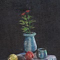 Still Life Flowers And Fruit by Charles McChesney