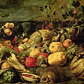 Still Life Of Fruits And Vegetables by Frans Snyders