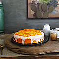 Still Life With Cake And Cactus by Snake Jagger