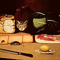 Still Life With Cat And Mouse by Anonymous