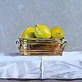Still Life With Copper And Lemons by Paul De Haan