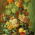 Still Life With Fruit And Flowers by Jan van Os