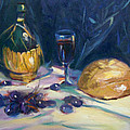 Still Life With Grapes by Nancy Griswold