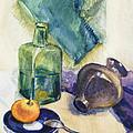 Still Life With Green Bottle by Irina Sztukowski