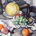 Still Life With Melons And Grapes by Samuel John Peploe