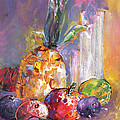Still Life With Pineapple by Miki De Goodaboom