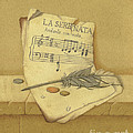 Still Life With Sheet Music by Victor Sap