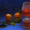 Still Life With Tangerins by Vladimir Kholostykh