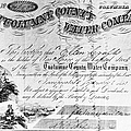 Stock Certificate, 1853 by Granger