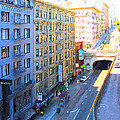 Stockton Street Tunnel In Heavy Shadow by Wingsdomain Art and Photography