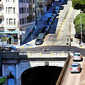 Stockton Street Tunnel In Hilly San Francisco . 7d7499 by Wingsdomain Art and Photography
