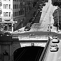 Stockton Street Tunnel Midday Late Summer In San Francisco . Black And White Photograph 7d7499 by Wingsdomain Art and Photography