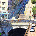 Stockton Street Tunnel Midday Late Summer In San Francisco by Wingsdomain Art and Photography