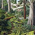Stoltman Old Growth Forest Landscape Painting by Kim Hunter