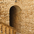 Stone Arch And Stairway by Michele Burgess