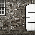 Stone Barn Window Cathedral Door by John Stephens