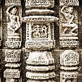Stone Carvings In An Indain Temple by Sumit Mehndiratta