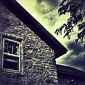 Stone House In Storm by Jill Battaglia