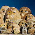 Stone Owls by Diana Haronis