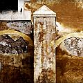 Stone Sight - Two Arches And A Column Draws A Disturbing Almost Human Face by Pedro Cardona Llambias
