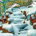 Stone Steps In Winter by Jeffrey Kolker
