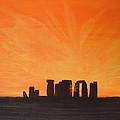 Stonehenge At Sunrise by Colin Lederman