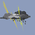 Storm Clouds, Lightning And Rain by Jutta Kuss