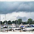 Storm Over Lake Erie by Joan  Minchak