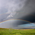 Storm Rainbow Prairie by Ryan McGinnis
