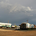 Storm Sky Over The Old Railyard by Kathleen Grace