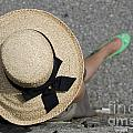Straw Hat And Green Shoes by Mats Silvan