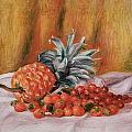 Strawberries And Pineapple by Pierre Auguste Renoir