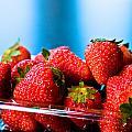 Strawberries In A Plastic Sale Box  by U Schade