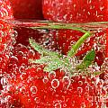 Strawberries In Water Close Up by Simon Bratt Photography LRPS