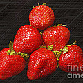Strawberry Pyramid On Black by Andee Design
