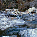 Stream Flowing Through The Rocks by Greg Plamp