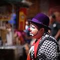 Street Clown At Central Park by John  Kolenberg