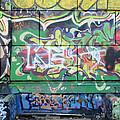 Street Graffiti - Tubs IIi by Kathleen Grace